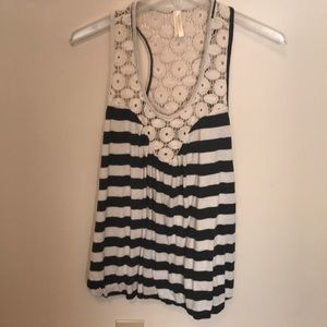 Just ginger from Nordstrom tank w knit racerback